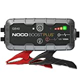 NOCO Boost Plus GB40 1000 Amp 12-Volt UltraSafe Lithium Jump Starter Box, Car Battery Booster Pack, Portable Power Bank Charger, and Jumper Cables For Up To 6-Liter Gasoline and 3-Liter Diesel Engines