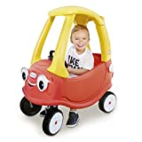 Little Tikes Cozy Coupe | Foot-Power Car (Red and Yellow) Includes Working Doors, Steering Wheel with Working Horn, Gas Cap, Ignition Switch | For Boys and Girls Active Play Ages 18 Months to 5 Years