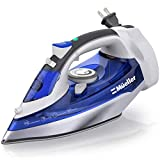 Mueller Professional Grade Steam Iron, Retractable Cord for Easy Storage, Shot of Steam/Vertical Shot, 8 Ft Cord, 3 Way Auto Shut Off, Self Clean