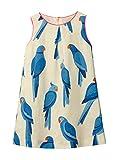 Kids Girl Sundress Summer Sleeveless Casual Blue Bird Flared Tank Shirt Dress White Jumper Skirt
