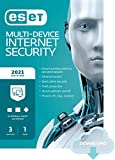 ESET Multi-Device Internet Security | 2021 Edition | 3 Devices | 1 Year | Antivirus Software | Parental Control | Privacy | IOT Protection | Digital download [PC/Mac/Android/Linux Online Code]