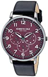 Kenneth Cole New York Male Stainless Steel Quartz Watch with Leather Strap, Black, 18 (Model: KC50801005)