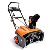 TACKLIFE Electric Snow Blower, Corded Snow Blower 15A, 24 tons Snow Throwing/Hour, 20'' Width & 10'' Depth, 180° Rotatable Chute, 4-Blade Steel Auger, Compact Storage & Easy Mobility