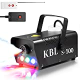 Fog Machine,KBLbfb Potable Smoke Machine with LED Lights, 500W Fog with Wireless and Wired Remote Control for Halloween Wedding Parties Stage&Environmental Disinfection