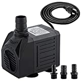 Yochaqute Aquarium Submersible Water Pump: 550GPH 30W Quiet Mini Adjustable with 6ft Power Cord for Hydroponics | Garden Waterfall | Pond | Fish Tank | Fountain