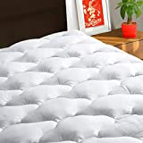 TEXARTIST Queen Mattress Pad Cover Cooling Mattress Topper 400 TC Cotton Pillow Top Mattress Cover Quilted Fitted Mattress Protector with 8-21 Inch Deep Pocket