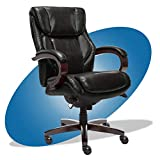 La-Z-Boy Bellamy Bonded Leather Executive Office Chair with Memory Foam Cushions, Black