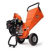 EFCUT C30 Mini Wood Chipper Shredder Mulcher, 7 HP 212cc Gasoline Engine, 3' Max Wood Diameter, 15:1 Waste Reduction Ratio, 2-Year Warranty After Product Registration