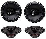 4 New Rockford Fosgate R165X3 6.5' 180W 3 Way Car Audio Coaxial Speakers Stereo