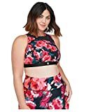 Lane Bryant Floral Active Sports Bra Red