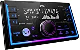 JVC KW-X840BTS Bluetooth Car Stereo Receiver with USB Port – AM/FM Radio, MP3 Player, Amazon Alexa Enabled - 1.5-line display - Double DIN – 13-Band EQ (Black)