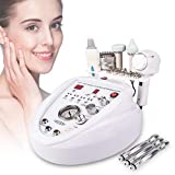 5 in 1 Diamond Microdermabrasion Machine Facial Dermabrasion Skin Care Beauty Device with Facial Skin Scrubber Hot and Cold Beauty Hammer for Blackhead Removing Tightening