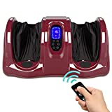 Best Choice Products Therapeutic Shiatsu Foot Massager Kneading and Rolling for Foot, Ankle, Nerve Pain w/ Handle, High Intensity Rollers, Remote Control, LCD Screen, 3 Massage Modes - Burgundy