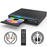 DVD Player with HDMI AV Output, DVD Player for TV, HD 1080P Upscaling with Coaxial Output/HDMI AV Cable/Remote Control/USB Input, Region Free Home DVD Players Recorders