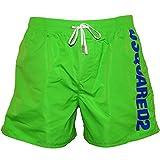 DSQUARED2 Men's Side Logo Swim Shorts, Green/Blue Medium Green/Blue
