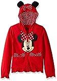 Disney FREEZE Little Girls' Minnie Polka Dot Bow Toddler Hoodie, Red, 2T