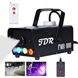 JDR Fog Machine with Controllable lights Smoke Machine Disinfection LED (Red,Green,Blue) with Wireless and Wired Remote Control for Weddings, Parties or Environmental Disinfection,with Fuse Protection