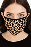 DressBarn Women's Wild Thing Fashion Face Mask, Stay Safe in Style, Comfortable Poly Blend, Made in USA