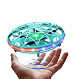LED Hand Drone, Hand Operated Drones for Kids with 5 Sensors, Hands Free Mini Drones Small UFO, Hand Controlled Flying Ball (Blue)