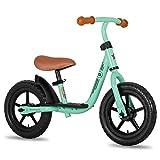 JOYSTAR 10 Inch Kids Balance Bike with Footrest for Child Girls 10' Glider Slider Bikes No Pedal Bicycle Training Bikes for 18 Months 2 3 4 Years Children Birthday Gifts Green