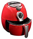 Avalon Bay, AB-Airfryer100R, Hot Air Fryer with Manual Controls, Compact Sized, 3.7 Quart Capacity, Red