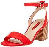 Dorothy Perkins Women's Heels Open Toe Sandals, Red Red 126, 7