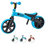 Yvolution Y Velo Junior Toddler Bike | No-Pedal Balance Bike | Ages 18 Months to 4 Years (Blue (New 2020))