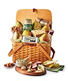 Harry & David Picnic Basket Pears, Cheese, Sausage, and Crackers Gift Basket