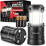 GearLight LED Camping Lantern Sunlit (2 Pack) - Battery Powered Lamp Lanterns for Emergency, Power Outages, Hurricane – Portable Camp Light, Flashlights, Accessories, Gear, Supplies