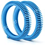 Discount Parts Direct 2 Pack 896584000-143 Blue Front Tire Kit with Super Hump, Replacement for Haywood Poolvergnuegen Select Pool Cleaners