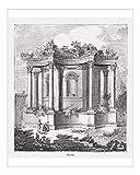 Media Storehouse 10x8 Print of Baalbek (Libanon), Roman Temple of Venus, Wood Engraving, published 1855 (13412125)