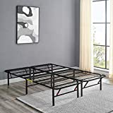 Amazon Basics Foldable, 14' Metal Platform Bed Frame with Tool-Free Assembly, No Box Spring Needed - Full
