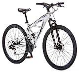 Mongoose Impasse Mens Mountain Bike, 29-inch Wheel, Silver, Model Number: R2780