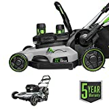 EGO Power+ LM2142SP 21-Inch 56-Volt Lithium-Ion Cordless Electric Dual-Port Walk Behind Self Propelled Lawn Mower with Two 5.0 Ah Batteries & Charger Included