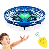 GALOPAR UFO Drone Toys for Kids, Hand Operated Mini Drone for Kids Gifts, Hand Drone Indoor Small UFO Toy with USB Rechargeable and 360°Rotating, LED Lights Flying UFO Toy Kids