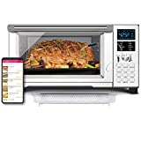 NUWAVE BRAVO XL 1800-Watt Convection Oven with Crisping and Flavor Infusion Technology (FIT) with Integrated Digital Temperature Probe for Perfect Results; 12 Programmed Presets; 3 Fan Speeds; 5-Quartz Heating Elements; Precision Temperature Control from 100F to 450F in 5F increments; Cook up to a 10 LB. Chicken, 13 inch Pizza, or 9 Slices of Toast; Air Fry, Broil, Bake, Roast, Grill, Toast; Dehydrate, Warm, and Reheat