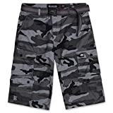 Cargo Shorts for Men with Belt - Mens ECKO Twill Shorts Street Camo 34