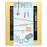 STMT DIY Hand Stamped Jewelry by Horizon Group Usa, Create Personalized Vsco Girl Earrings, Bracelets & Necklaces with A Metal Letter Stamp Set, Hammer, Stamping Block, Charms & Earrings Included
