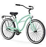 sixthreezero Around The Block Women's Single-Speed Beach Cruiser Bicycle, 26' Wheels, Mint Green with Black Seat and Grips, Model:630042