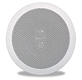 Polk Audio RC6s In-Ceiling 6.5' Stereo Speaker | Dual Channel from a Single Location | Perfect for Damp and Humid Indoor/Outdoor Placement - Bath, Kitchen, Covered Porches (White, Paintable Grille)