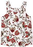Ann Taylor LOFT Outlet Women's Smocked-Strap Tank Blouse (Medium, Floral Vine)