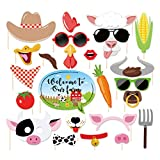 CC HOME Farm Animal Photo Booth Props,Farm Animal Wedding Bridal Shower Birthday Party Supplies Baby Shower Decorations 25CT