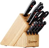 WÜSTHOF Gourmet Twelve Piece Block Set | 12-Piece German Knife Set | Precise Laser Cut High Carbon Stainless Steel Kitchen Knife Set with 13 Slot Wood Block – Model 9312