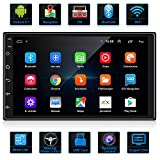 ANKEWAY Double Din Android Car Stereo with GPS/HiFi/WiFi/Bluetooth/RDS/FM, 7 Inch 1080P HD Touch Screen Car Radio Bluetooth Multimedia Player Supports Mirror Link(Android/iOS)+Backup Camera+Dual USB