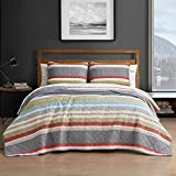 Eddie Bauer Home   Salmon Ladder Collection   Bedding Set-100% Cotton Light-Weight Quilt Bedspread, Pre-Washed for Extra Comfort, Queen