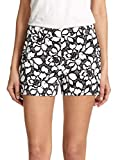 DVF Napoli Embroidered Floral Lace Print Shorts in Black/White (4)
