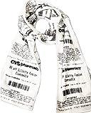 CVS Receipt Scarf, double-sided, soft fleece for any season. Looks just like a real CVS receipt. Makes a great gift!