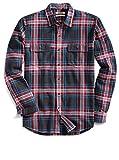 Amazon Brand - Goodthreads Men's Slim-Fit Long-Sleeve Plaid Twill Shirt, Black, Large