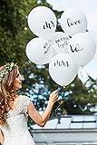 David's Bridal Scripted Wedding Balloon Bundle Style BR-374, White