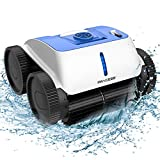 PAXCESS Cordless Robotic Pool Cleaner - Wall-Climbing Function with Smart Route Plan, Automatic Pool Vacuum, Max Surface Cleaning & Powerful Suction, MAX 90 mins, for 1614 sq ft in/Above Ground Pools